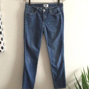 PAIGE Skinny Jeans Skyline Ankle Peg Dark Wash
